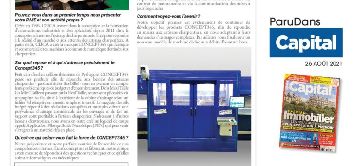 CONCEPT345 dans CAPITAL : RÉUSSITE À LA FRANÇAISE